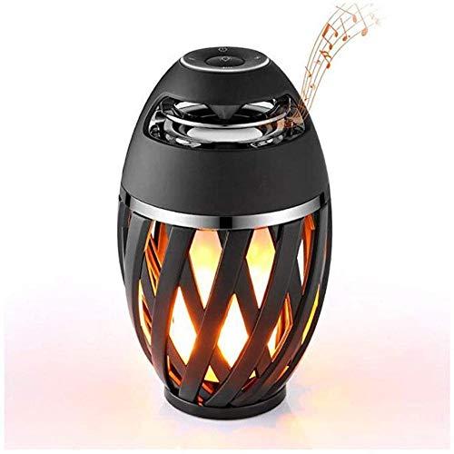 Altavoz LED Llama Lámpara de mesa Atmósfera exterior Altavoz Bluetooth Estéreo Inalámbrico Lámpara de mesa portátil Luz nocturna Altavoz Bluetooth