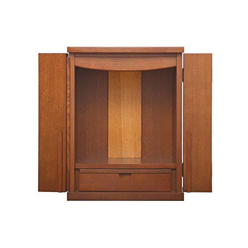 Buddha-Altar Kabinett, Walnuss mit Türen Fortuna Schrein Desktop-Buddha Schrank, Geeignet for Place Your Spiritual Dekoration Meditation
