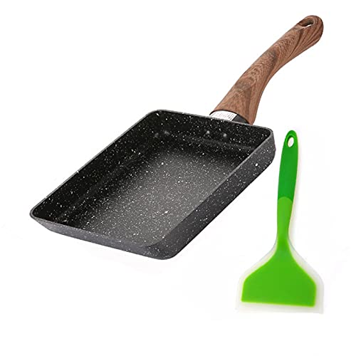 MJJCY 13x18cm Freying Pan Tamagoyaki Omelette Negro Antiadherente Pan Frey Egg Pan Pancake Cocina Sólo Uso para la Olla de Gas (Color : C)