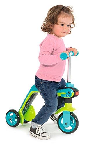 Smoby 7600750605 Switch 2-in-1, Laufrad und Roller, Blau