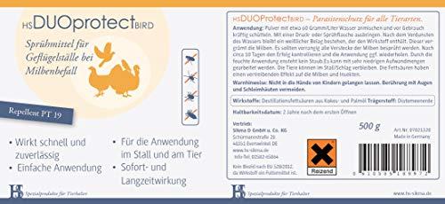 HS Duo Protect Bird 500Gramm- Sprühmittel für Geflügelställe bei Milbenbefall
