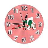 ゴリラはクリスマスツリーを取る 壁掛け時計 おしゃれ デジタル ミュート 円形 掛け時計 置き時計 目覚まし時計 インテリア 装飾