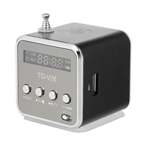 Fesjoy Mini Altavoz con Cable de 3.5 mm Reproductor de MP3 portátil Radio FM Amplificador de música Soporte Tarjeta TF U Disco Altavoz para DVD Laptop Teléfono móvil