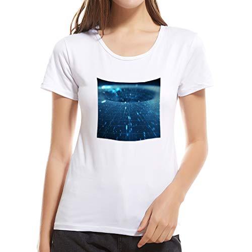 T-Shirt Casual da Donna,Sassanids❀ Camicia Stampata Manica Corta, Svago e Comfort,Maglietta Maniche Corte Stampa Creativa Moda Casual da Donna Madre-Figlio Madre,Cotone