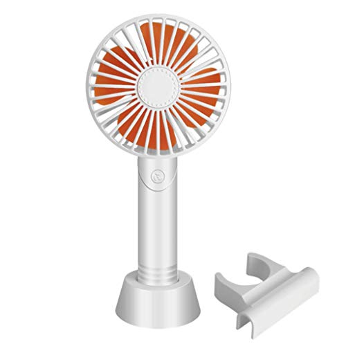 Casa exterior Ventilador de aromaterapia silencioso de dibujos animados Mini ventilador portátil Ventilador de mano Carga USB Ventilador desmontable Soporte for teléfono móvil Base pequeño ventilador