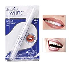 100% Brand New and High Quality .This professional strength whitening brush-on paint pen allows for a thin application of whitening gel. The active oxygen bubbles instantly begin to remove stains Powerful Results: Within just 1 week you will be able ...