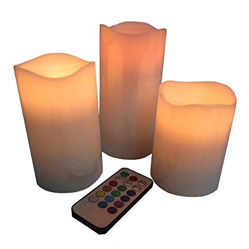 Zen'Light 3BLT Set de 3 bougies LED avec télécommande