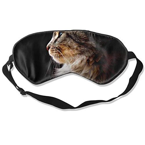 Oogmasker Bruin Kat Slapend Masker Verstelbaar Ademend Slaap Masker Slapende Slaap Ogen Masker Oogschaduw Blindfold