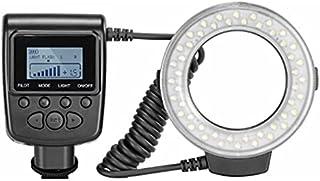 Fontsime RF-550D 写真撮影リング フラッシュ lcd ディスプレイ電源制御アダプタ リング フラッシュ ディフューザー用クローズ アップ写真黒