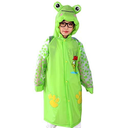 ALXLX Regenmäntel Für Jungen Und Mädchen - Leichter, Wasserdichter Regenmantel Aus Einem Stück - wasserdichte Poncho-Jacke Für Den Außenbereich (Farbe : Grün, größe : M)