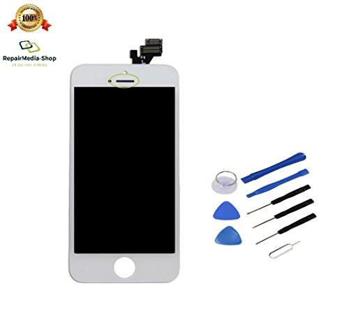 Für Apple iPhone 5 Display TOUCHSREEN LCD DIGITIZER Scheibe KOMPLETT MIT Rahmen Weiss + WERKZEUGSET