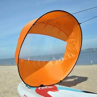 """42/"""" Faltbare Kajak Kanu Segel Downwind Wind Paddel Klar Fenster Popup Board GE"""