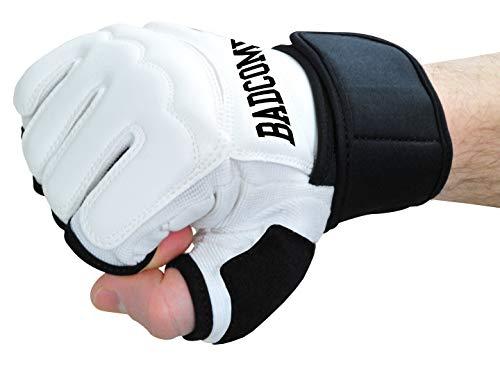Bad Company Profi PU FreeFight MMA Handschuhe Modern Lights weiß, L