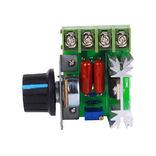 Controlador de velocidad del motor ajustable, módulo de interruptor de velocidad regulador de voltaje variable 2000W AC 50-220V 25A ancho de pulso modulador