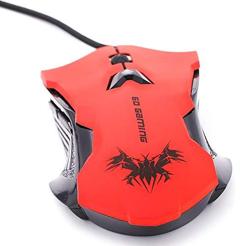 CEKA TECH Mouse da gioco - Mouse da gioco USB cablato 800-2400 DPI compatibile con MSI GE65 Raider 9SF - Mouse da gioco compatibile con PC PS4 Xbox One