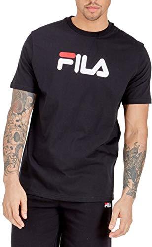 Fila Uomo T-Shirt con Grafica Eagle, Nero, S