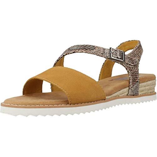 Skechers Damen Keil-Sandalen Desert KISS Cactus Rose Beige/Gelb, Schuhgröße:EUR 36