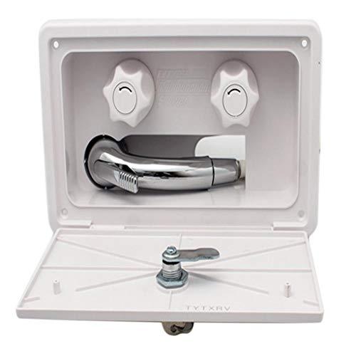 B Blesiya Juego de cabina de ducha Premium blanco a pared, soporte...