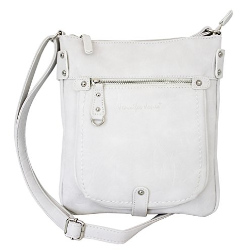 Jennifer Jones 3110 - Bolso bandolera  Mujer Blanco weiss medium