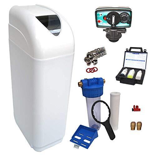 Descalcificador de agua Fleck 5600 MV 30L completo con accesorios