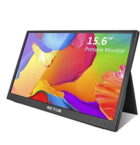 NETUM Monitor Portatile Touchscreen(presa EU), Monitor Esterno da 15,6 Pollici per Monitor IPS HDR 1920 X 1080 FHD con…