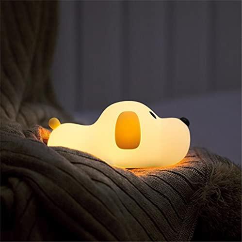 LED Nachtlicht Kinder Baby Nachtlampe mit Touch Schalter Tragbare Silikon Nachtlichter für Babyzimmer, Schlafzimmer, Wohnräume, Schlaflampe Warmes weißes licht