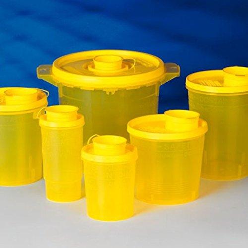 Servoprax I9 0705 Servobox Sicherheitscontainer für Spritzen und Kanülen, Kleinmodell Bild Type, 500 mL Volumen, 110 mm Höhe, 90 mm Oben Durchmesser (100 er-Pack)