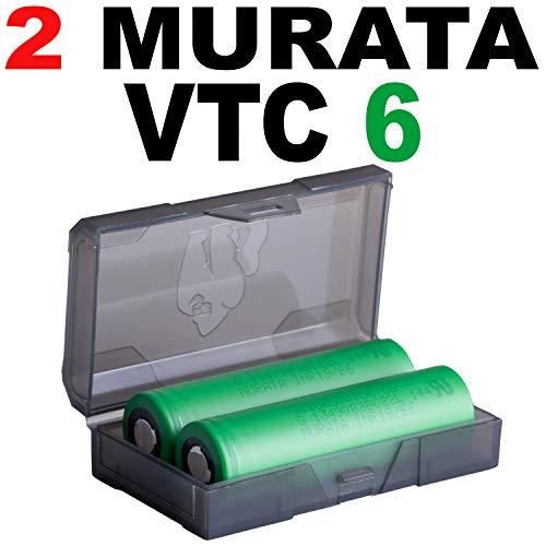2 VTC6 US 18x65 VTC6 Akkus INR für E-Zigarette Batterien Akku Dampfen (3120mAh/3,7V/30A)