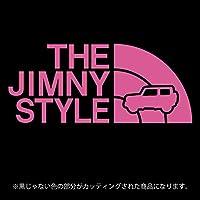 ジムニー 4代目JB64/JB74系ステッカー THE JIMNY STYLE【カッティングシート】パロディ(12色から選べます) (ピンク)