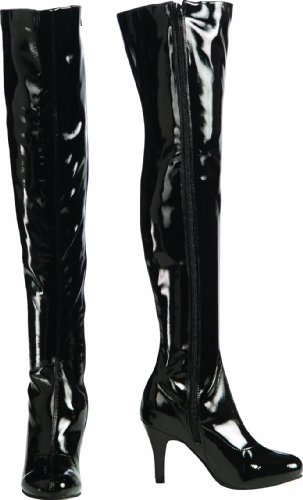 Secret Wishes Thigh-High Boots With Stiletto Heels, Black, Medium