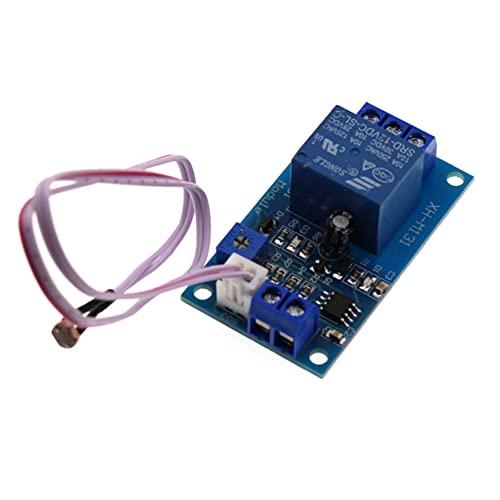 LIZHOUMIL Detección de intensidad de luz del módulo sensor sensible a la luz con cable DC 12 V/DC 5 V.