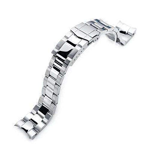 Strapcode 20mm Super 3D Oyster Watch Band for Seiko Alpinist SARB017, Brushed & Polished Submariner Clasp