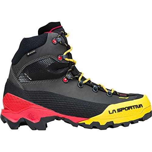 La Sportiva Aequilibrium LT GTX Mountaineering Boot - Men's Black/Yellow, 41.5