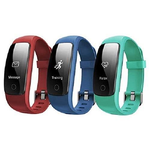 LWPCP Smart Watch ID107 Plus Pulsómetro Pulsera Monitor para Android iOS,Red 🔥
