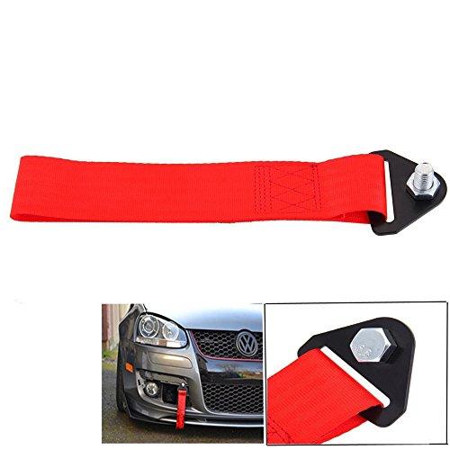 LEAGUE&CO Universal Auto Abschleppband Abschlepp Schlaufe Abschlepphaken für BMW Toyota (Rot)