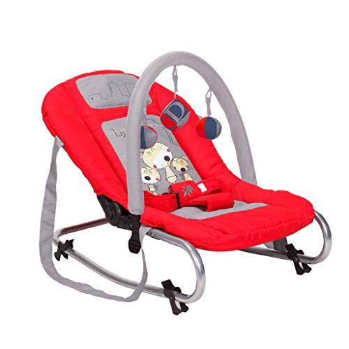 Xiao Jian- Chaise à Bascule bébé Chaise à Bascule Multifonctions Lit Berceau Confort Chaise à Bascule bébé Fauteuil inclinable Chaise berçante bébé (Couleur : Red)