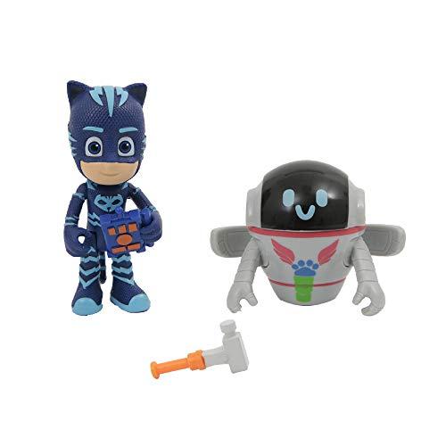 Giochi Preziosi Masks Gattoboy e Pj-Robot Coppia di Personaggi, Multicolore, PJM65800