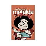 DRAGON VINES Mafalda Argentina - Impression sur toile - Décoration murale - 30 x 45 cm