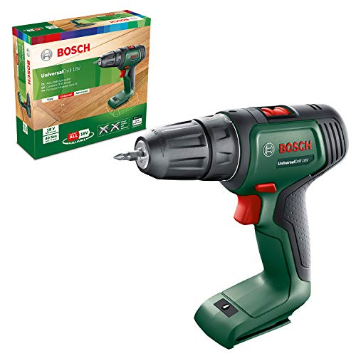 Bosch Home and Garden 06039D4000 Bosch - Atornillador inalámbrico universal Drill 18 (sin batería, sistema de 18 V, en caja)