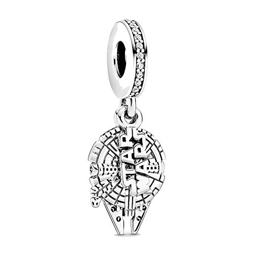 Compatible With Pandora Baby Yoda Charm - Robin charm - Snow flake charm - Star Wars Charm - Sterling Silver 925 Bracelet Jewellery For Women girls bracelet (Star wars)