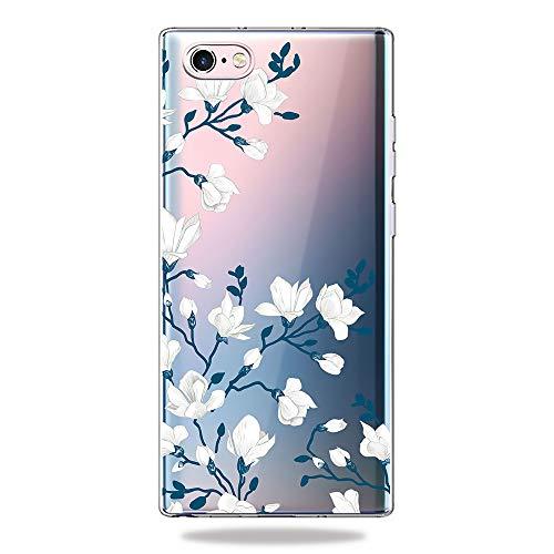 AChris Huawei Nova 4 Hülle Silikon Transparent Weiche Stoßfeste Stoßfänger Ultra-Dünn TPU Schutzhülle Case Cover Kompatibel mit Huawei Nova 4 - Blaue Blume