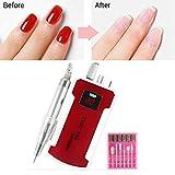 Taladro eléctrico del Clavo, máquina eléctrica Profesional Lima de uñas, manicura pedicura Recargable para la Eliminación de acrílico uñas de Gel