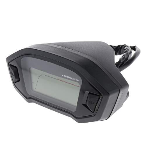 Gazechimp Medidor Digital de Motocicleta Impermeable Tacómetro Medidor Odómetro para Moto Rango de Velocidad: 0-199 km