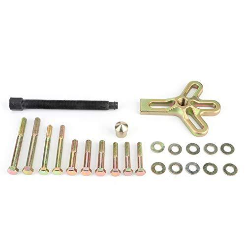 EVGATSAUTO Lenkrad-Abzieher-Kits, 13-teiliges Auto-Reparatur-Abzieher-Kit-Entfernungswerkzeug für die Wartung der Lenkrad-Kurbelwellen-Riemenscheibe