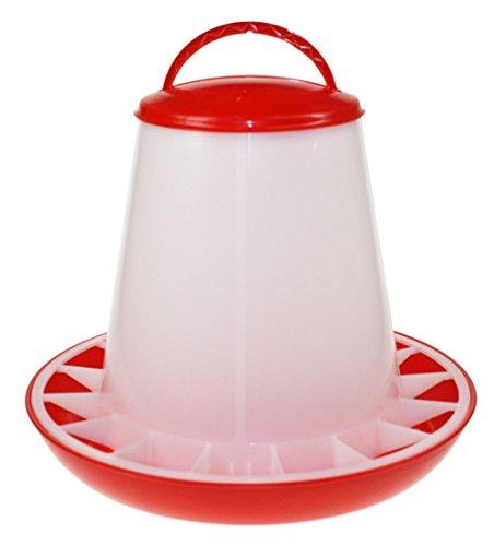 Beeztees 18140 Futtersilo mit Deckel aus Plastik, 3 kg, rot / weiß