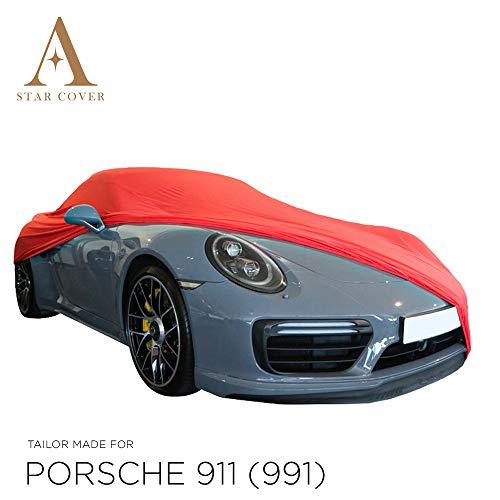 Star Cover AUTOABDECKUNG ROT Porsche 911 (991) Turbo SCHUTZHÜLLE ABDECKPLANE SCHUTZDECKE
