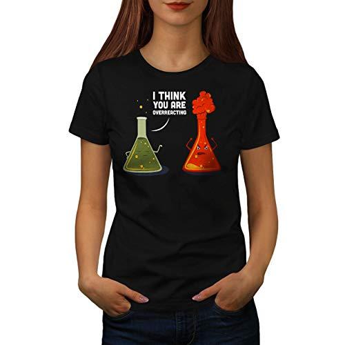 wellcoda Chimica Laboratorio Divertente Donne Maglietta ReazioneT-Shirt Stampata dal Design Casual