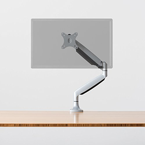 Fully Jarvis Monitor Mounting Arm - fits up to 32' Computer Display (Single, Silver)