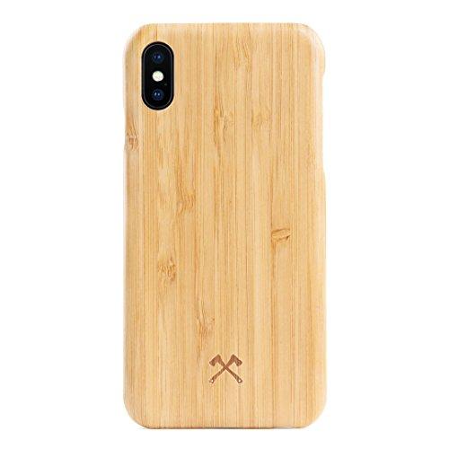 Woodcessories - Hülle kompatibel mit iPhone X/Xs aus Echtholz - EcoSlim Case (Bambus)