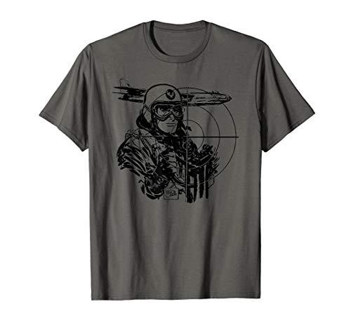 WW2 Vintage WWII Military Pilot Shirt-World War 2 Bomber T-Shirt